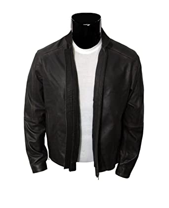Vintage Leather Jacket - Brown Motorcycle Jacket for Men at Amazon ...