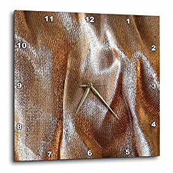 3dRose dpp_14498_3 Gold and Silver Lame-Wall Clock, 15 by 15-Inch