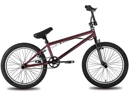 Zhangxiaowei El Montar en Bicicleta niños y niñas Red Freestyle Bicicletas de 20 Pulgadas Bicicleta de Acero de Ancho Dual de los Hijos Adultos,Rojo: Amazon.es: Deportes y aire libre