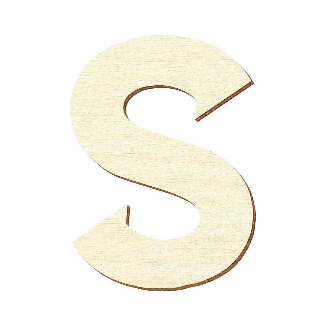 5 cm Bois B/ütic GmbH/Lettres en bois/contreplaqu/é/Sea Garden/En peuplier/3/mm/Disponibles en diff/érentes dimensions 4