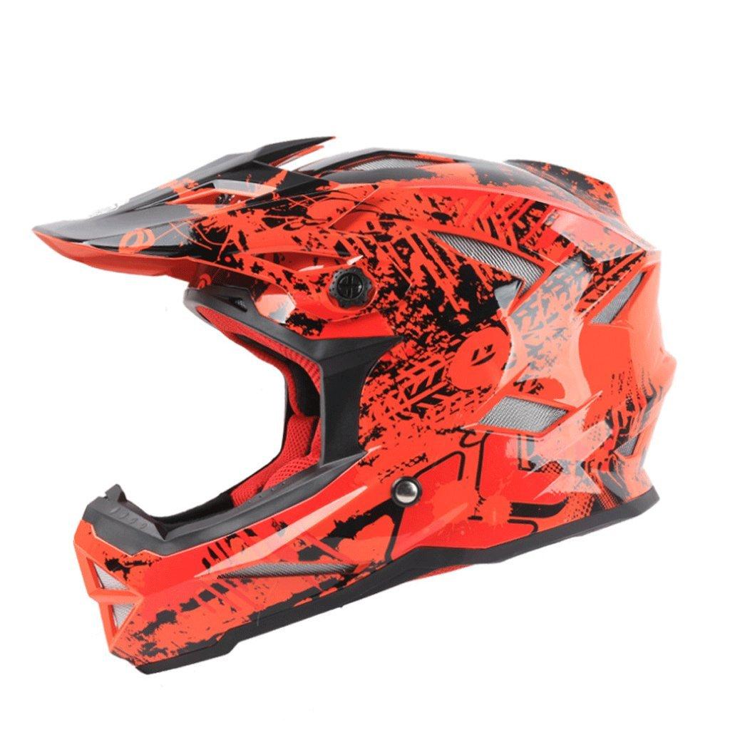 DGF ヘルメット超軽量オフロードレーシングダウンヒルヘルメットオートバイ機関車マウンテンバイクスポーツフルカバー男性と女性 (色 : Red, サイズ さいず : M) B07FNQC547 Medium|Red Red Medium