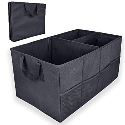 Vech Car Trunk Organizer - Foldable Cargo Trunk Bag with Durable Cover Washable Storage with Reinforced Handles: Home Improvement
