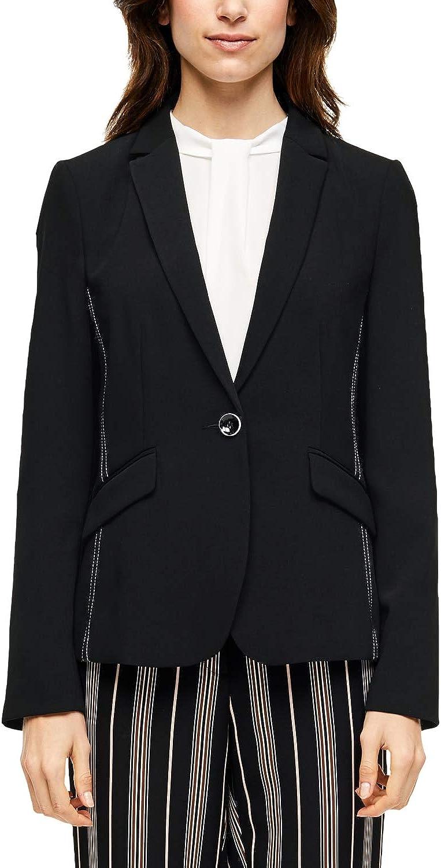 s.Oliver BLACK LABEL Damen Blazer mit Kontrastnaht