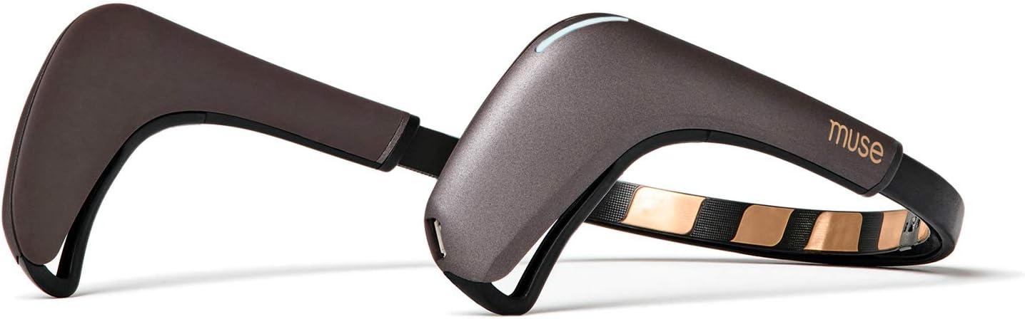 Muse 2: The Brain Sensing Headband - Meditation Tracker Multi Sensor Headset Device - Responsive Sound Feedback for Brain Wave, Heart, Body & Breath Activity