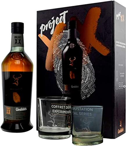 Glenfiddich Experimental Series Project XX Single Malt Scotch Whisky Gift Box with 2 Glasses and Black Salt, 700 ml