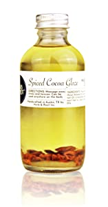 Edible Cocoa Massage Oil with Warming Cinnamon | Relaxing Massage Oil for Couples | Herb & Root, 4 oz