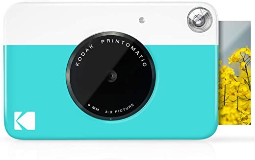 """KODAK Printomatic Digital Instant Print Camera - Full Color Prints On ZINK 2x3"""" Sticky-Backed Photo Paper (Blue) Print Memories Instantly"""