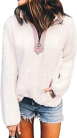 Minetom Sweats Femme Chic Sweatshirt Pull Fille Oversize
