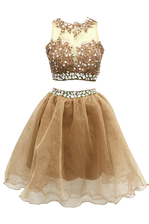 ADress Women's Two Piece Prom Dress Fashion Short Homecoming Dress