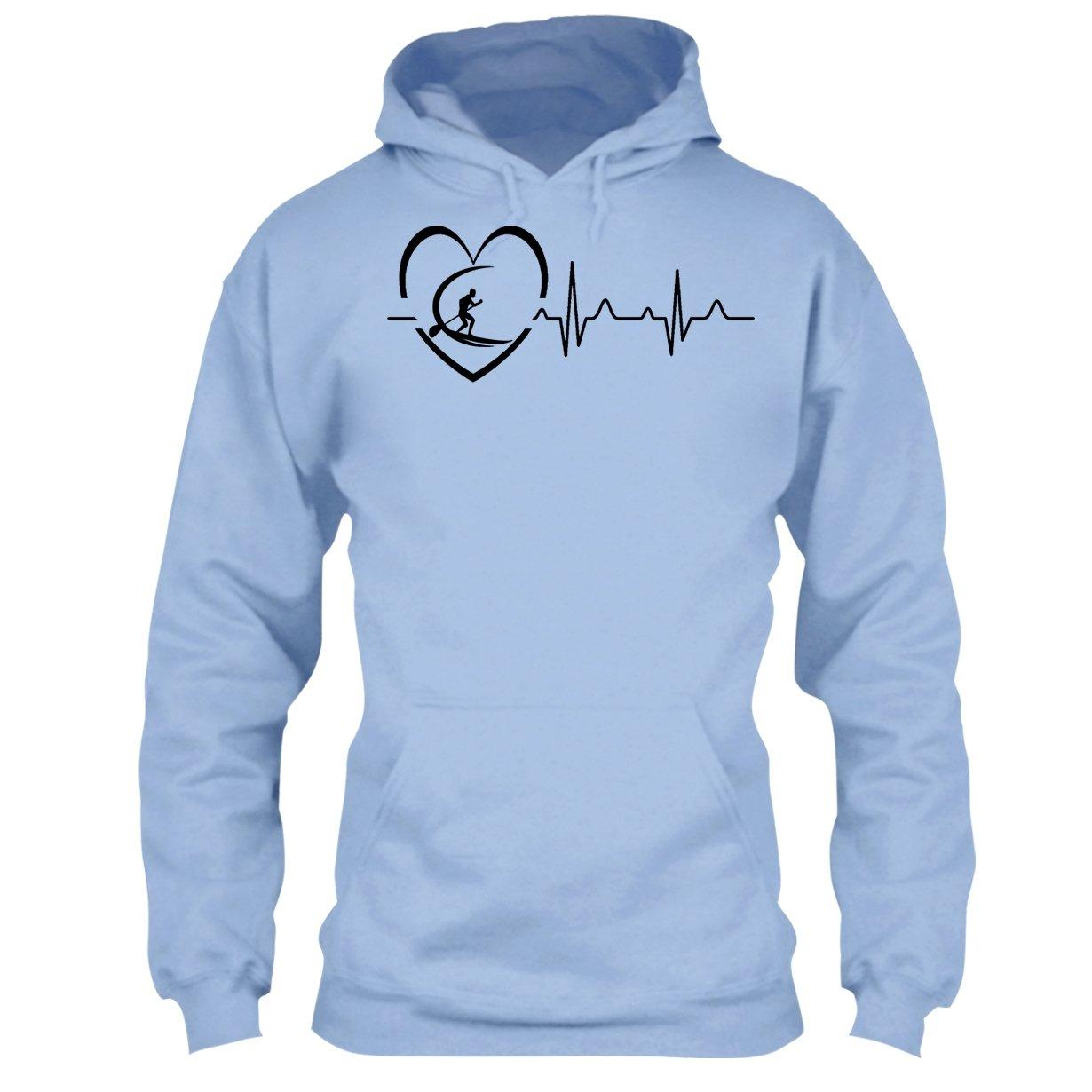 Arered Paddleboard Cool Tshirt Paddleboard Heartbeat T Shirt Design