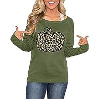 Spadehill Women's Thanksgiving Graphic Long Sleeve Shirt