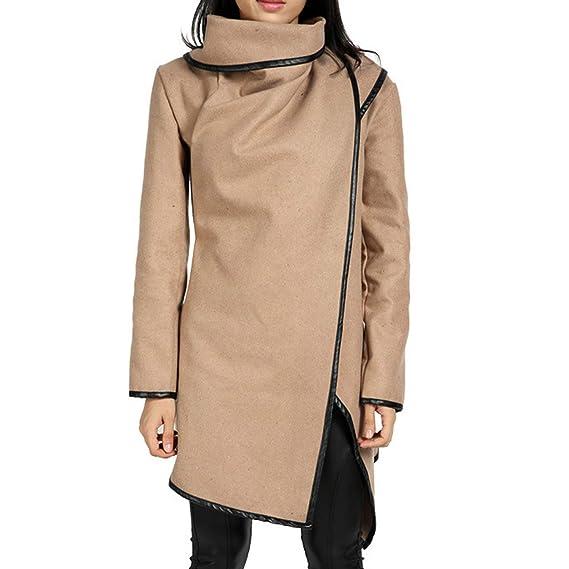 Amazon.com: Avory New Women Irregular Bow Zippers Wool Jacket Parka Windbreaker Bomber Jacket Chaqueta Mujer Veste Femme #6: Clothing