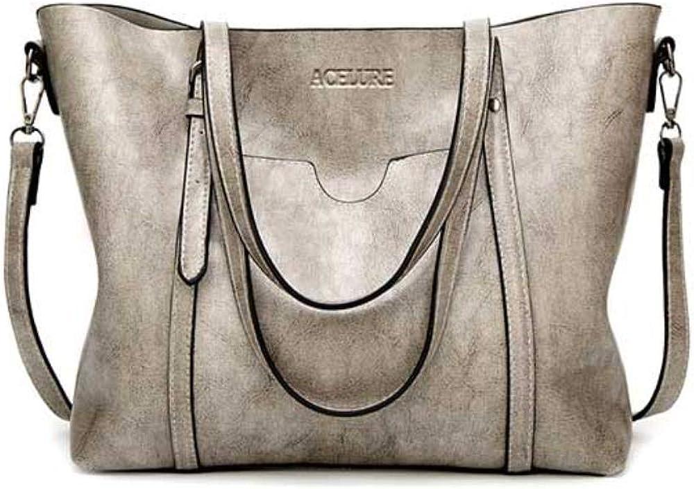 KWHY femmes sac huile cire sacs /à main en cuir pour femmes luxe dame sacs /à main avec sac /à main poche femmes messenger sac Big Tote Sac Bols