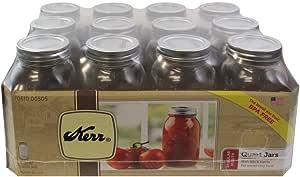 Kerr Jars Kerr Jar Reg Quart, KER505, Clear, 12 Count