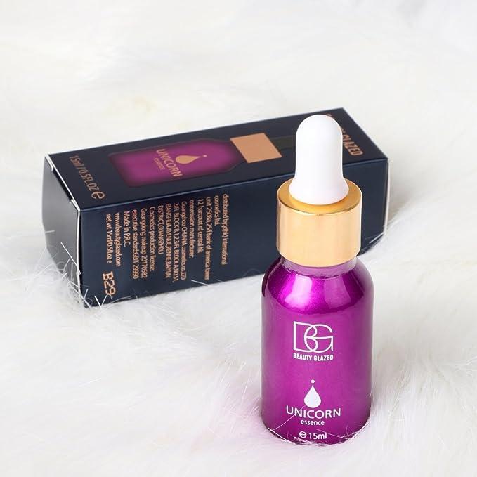 Angmile - Esencia de base de maquillaje de oro rosa de 24 quilates con aceite esencial hidratante inflado para el cuidado de la cara antes de la base de ...