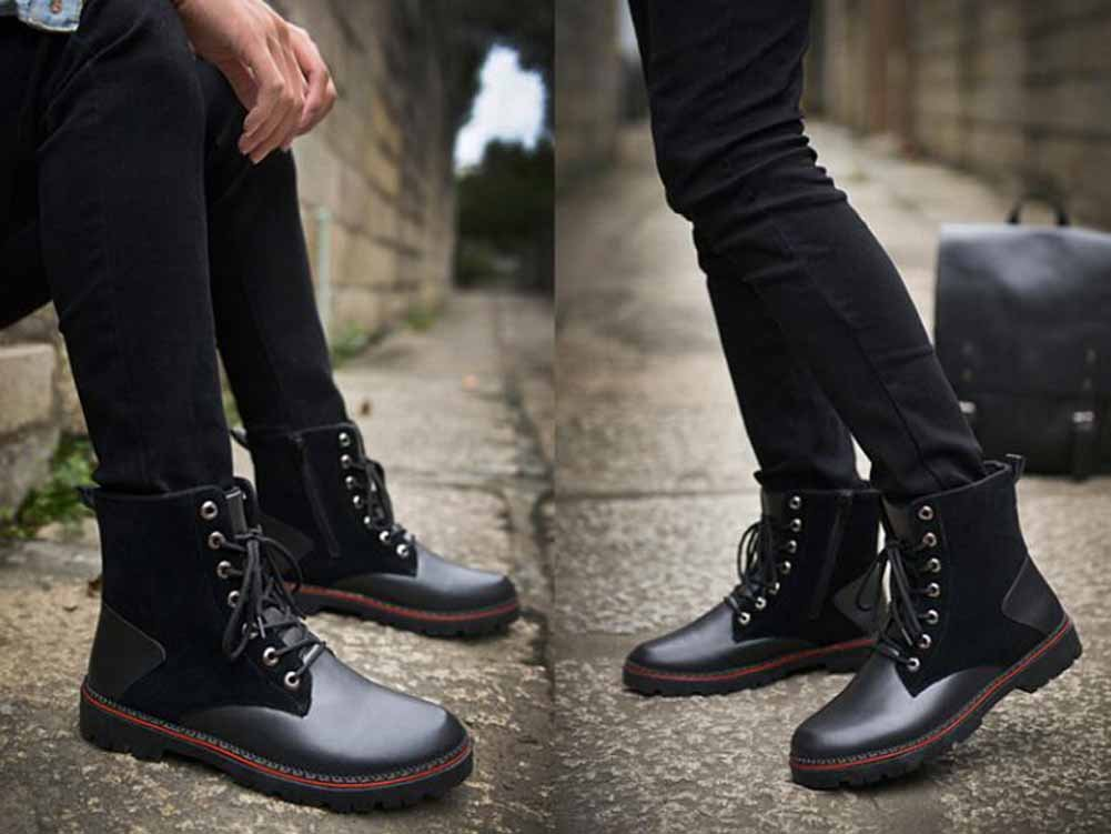 GLSHI Männer Mode High-Top High-Top High-Top Martin Stiefel Neue Herbst Winter Stylist Arbeits Stiefel Trendy Retro Schnee Stiefel 095d56