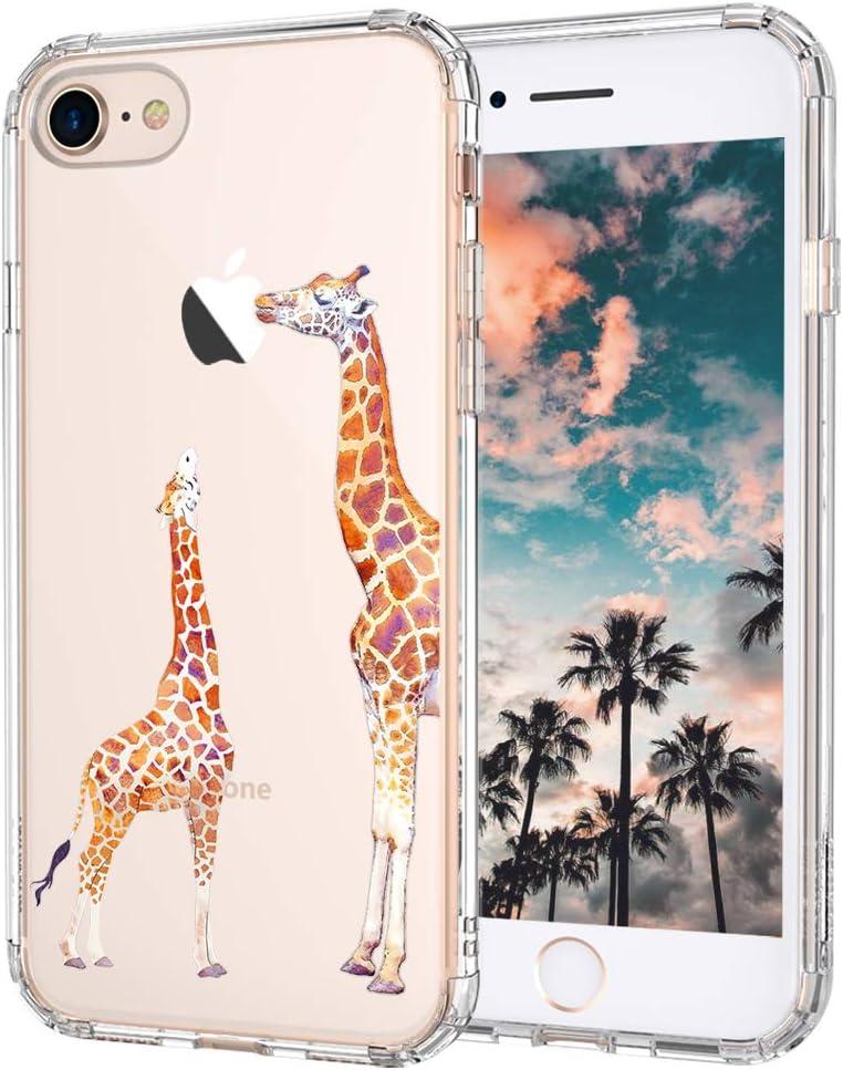 MOSNOVO Cute Giraffe Pattern Designed for iPhone SE 2020 Case/Designed for iPhone 8 Case/Designed for iPhone 7 Case - Clear