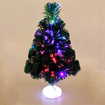 45 cm led christmas tree artificial fiber optics christmas tree battery operated with colour changing light