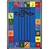 Joy Carpets Kid Essentials Music and Special Needs Elementary Note Worthy Rug, Multicolored, 5'4'' x 7'8''