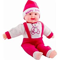 theperfectbazaar Happy Baby Musical and Laughing Boy Doll, Touch Sensors (35cm)