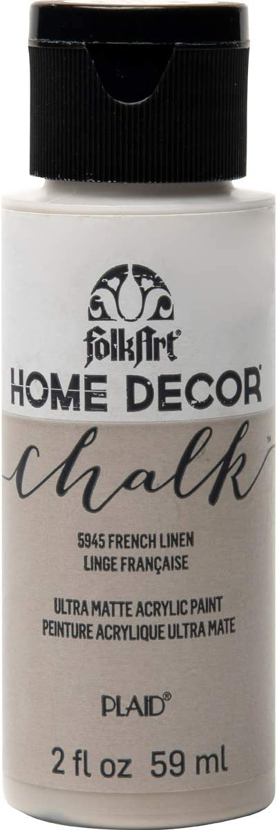 FolkArt Home Décor Chalk Furniture & Craft Paint in Assorted Colors, French Linen