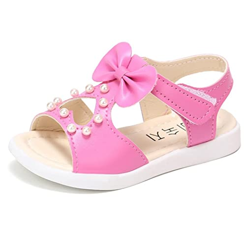 9bdbe207be78 Lanhui Summer Kids Sandals Fashion Bowknot Pearl Roman Girl Flat Shoes Baby  (Age 1years