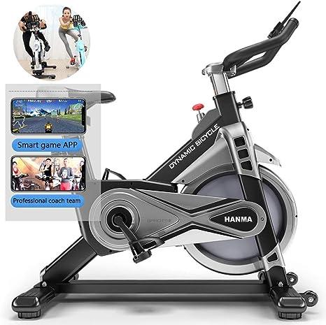 HOUADDY Unisex Adulto Bicicleta Estática Vertical Swing Indoor Spinning Bici Entrenamiento Fitness con Sillín Ajustable, Vídeos Y App, Máximo Usuario 120 Kg,Negro: Amazon.es: Deportes y aire libre
