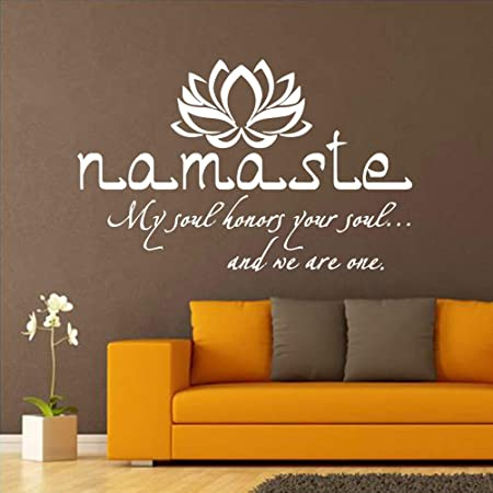 Ajcwhml Mandala Creativa Lotus Wall Sticker Yoga Room ...