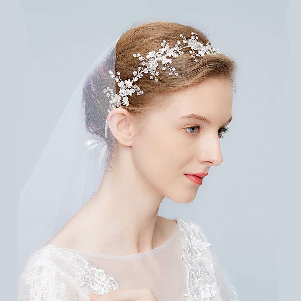 Wedding Dress Accessories.Amazon Com Bride Headdress Flower Dress Wedding Dress