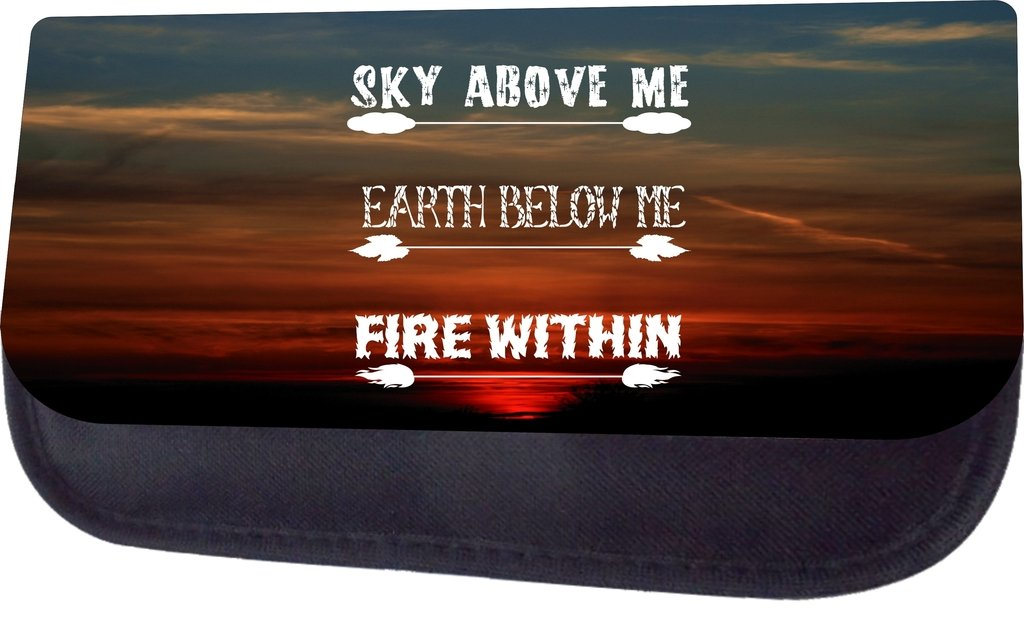 Sky Above Me Earth Below Me Fire Within School Messenger Bag Pencil Case Set