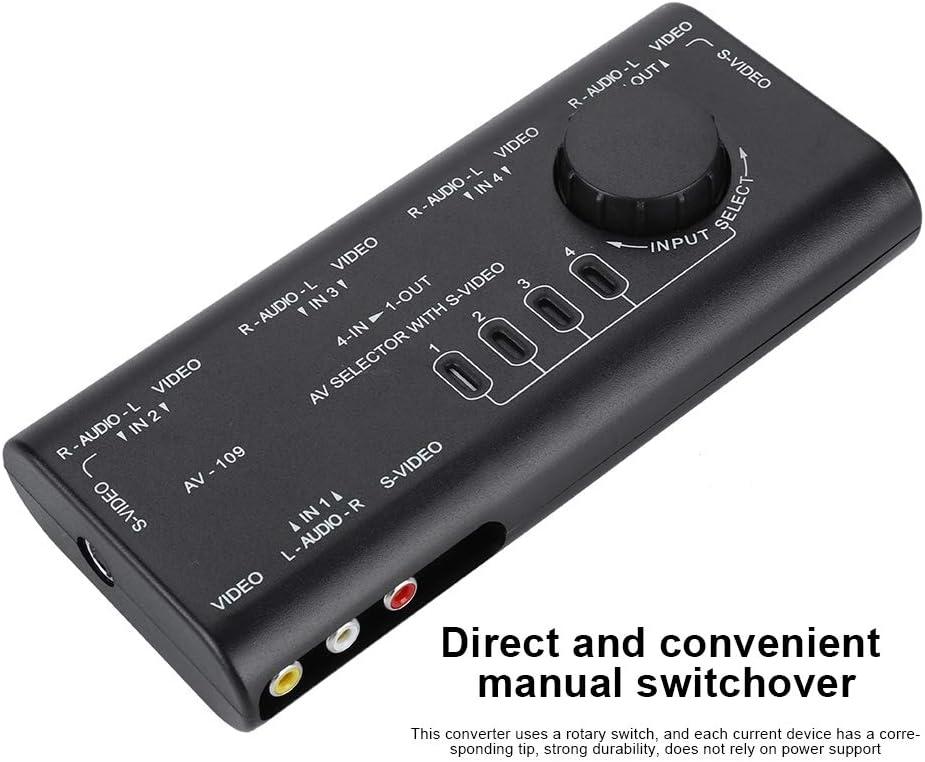 Tonysa AV-109 4 In 1 Out AV Cinch Umschalter,Audio Video Switcher ...