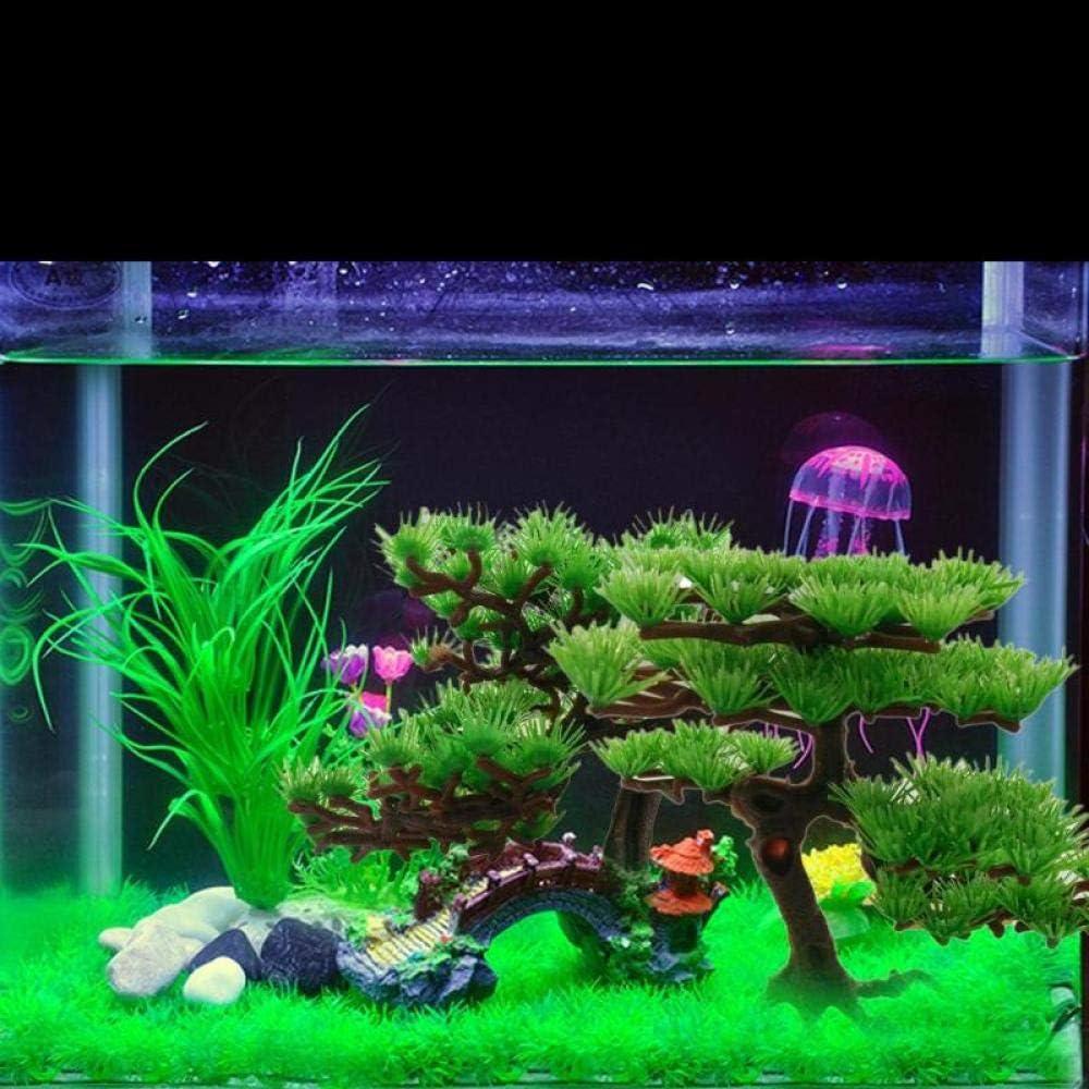 GNZM Aquariums /& AccessoriesAquarium Decoration Plastic Artificial Water Plant Pine Tree Bonsai Fish Tank Aquarium Aquatic Landscape Aquarium Accessories