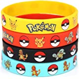 24 Count Pokemon Rubber Bracelet Wristband - Birthday Party Favors Supplies