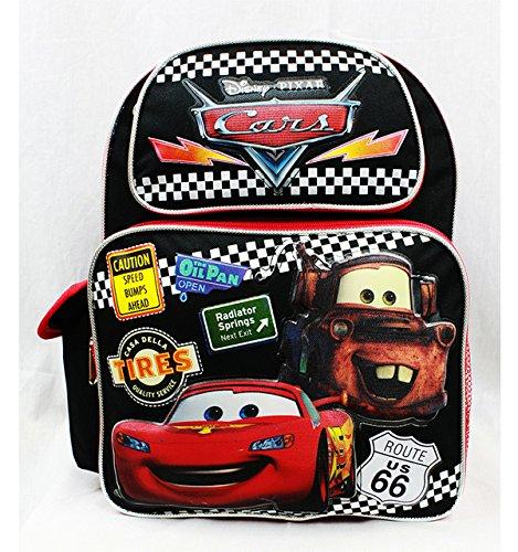 Medium Backpack - Disney - Cars Tires Black School Bag New a05688 B00ZU8YFB2