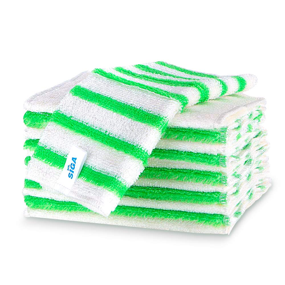MR. SIGA Bamboo Fiber Cleaning Cloths, Size: 23 x 18cm - Pack of 12 Ningbo Shijia Cleaning Tools Co. Ltd. SJ21581