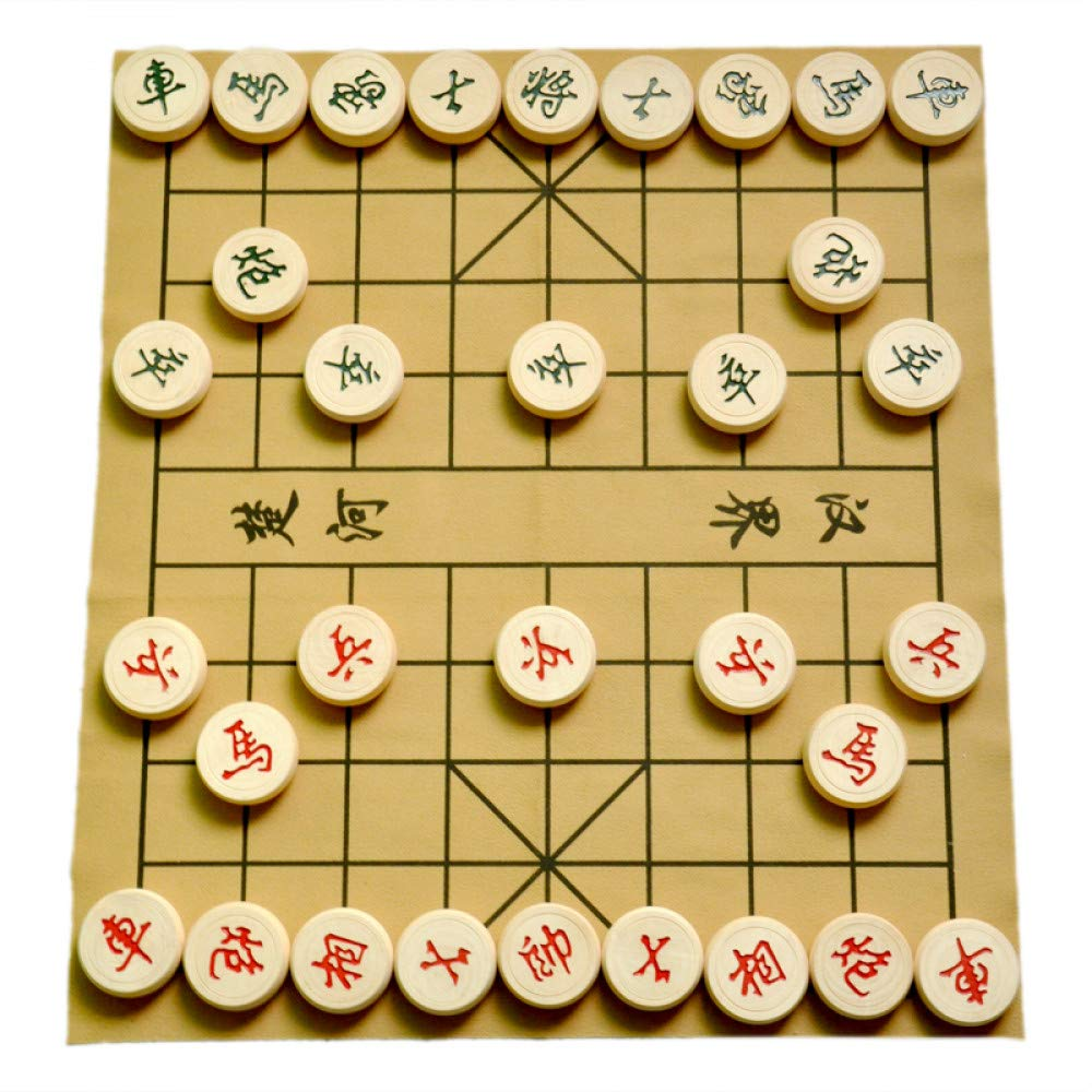 JSGJZY Game 2018 Chinese Chess 5 cm Solid Wood Chess Leather Board Carton Set high qulity Classic Chess Folding Board Packaging Chess
