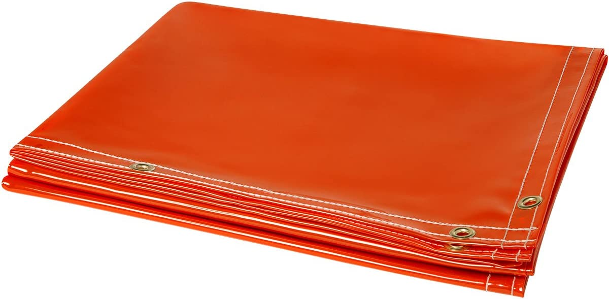 6 x 10 6/' x 10/' ERB Steiner 338-6X10 Arcview 14 Mil Flame Retardant Tinted Transparent Vinyl Welding Curtain Orange