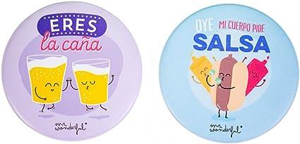 Mr Wonderful - Pack de dos imanes salsa y caña: Amazon.es: Oficina y papelería