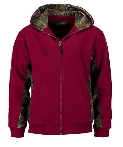 Amazon.com  Trail Crest Men s Camo Zip Full Zip Up Hooded Sweatshirt ... fc977f63abd