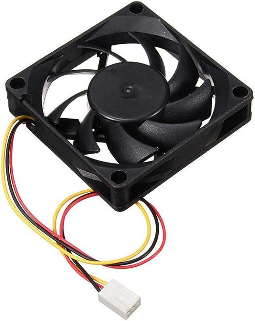 CAOQAO - Ventilador de Carcasa para PC y PC (12 V, 7 cm, 70 x 70 x