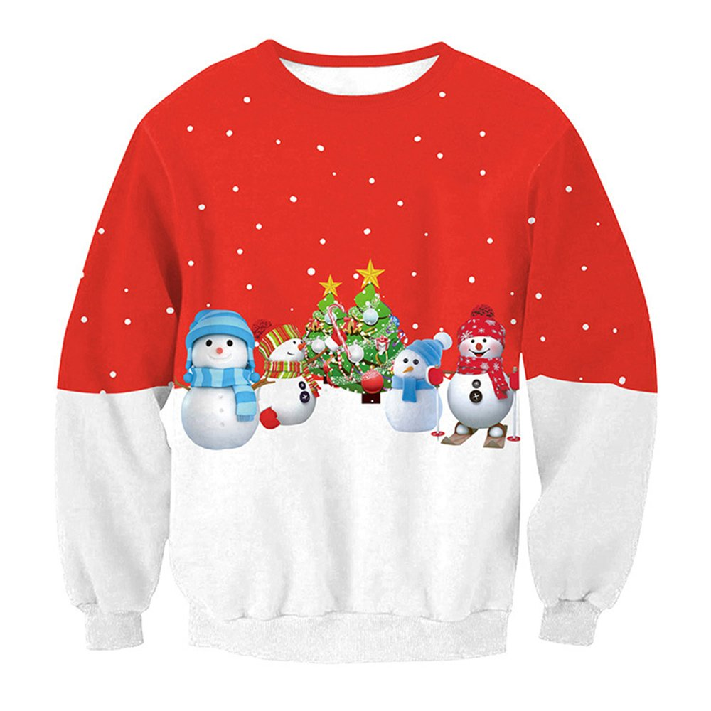 HunterMax Womens Crew Neck Ugly Christmas Knit Pullover Sweater Funny Xmas Sweatshirt