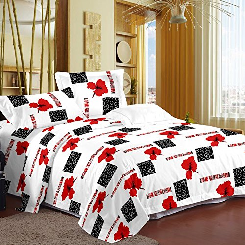 Story@Home Magic Cotton Double Bedsheet with 2 Pillow Covers - White (MG1227)