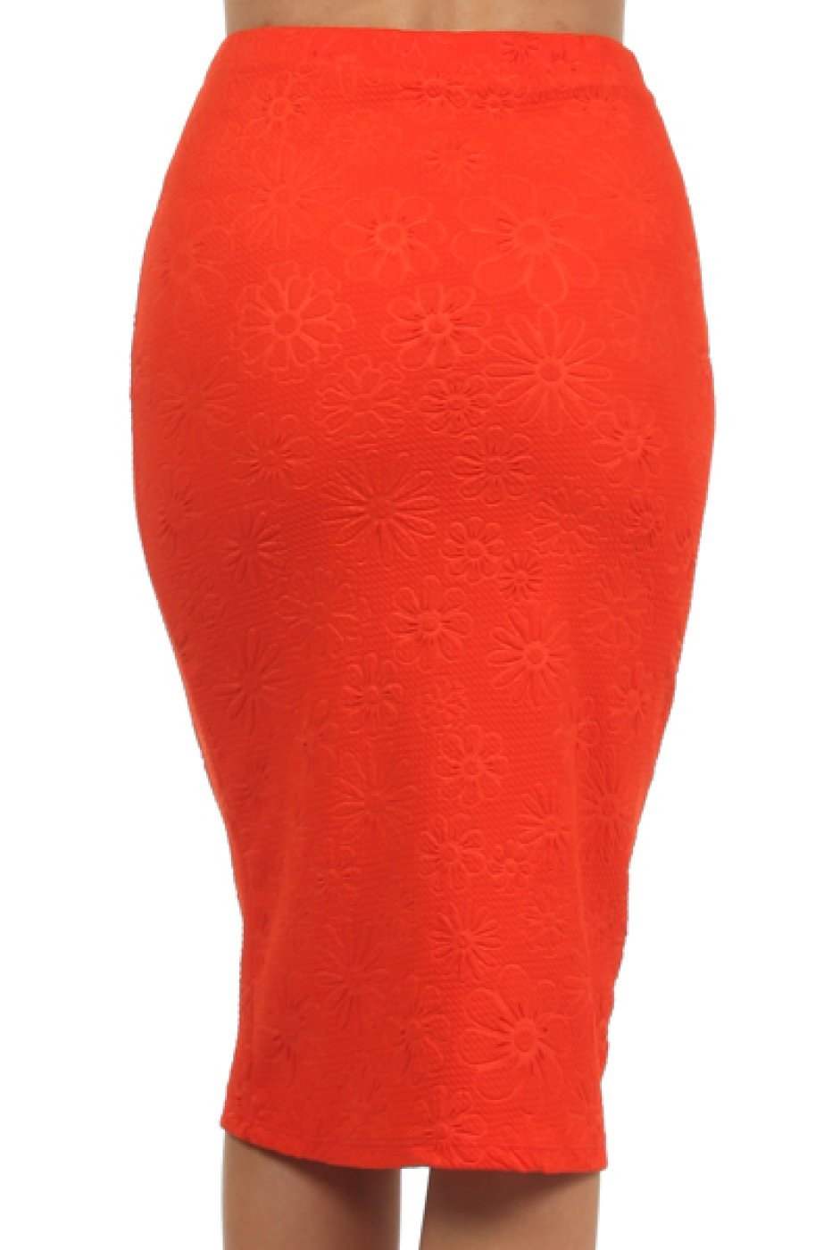 2LUV Women's Mix Print High Waisted Knee Length Pencil Skirt Red M (S170-7 RY) by 2LUV (Image #3)