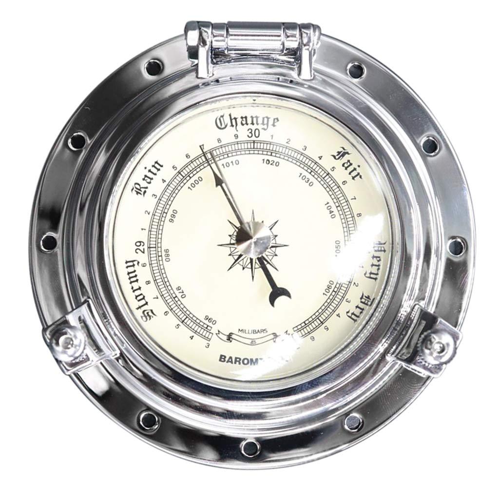 Homyl Marine RV Boat Barometer Air Pressure Gauge Silver