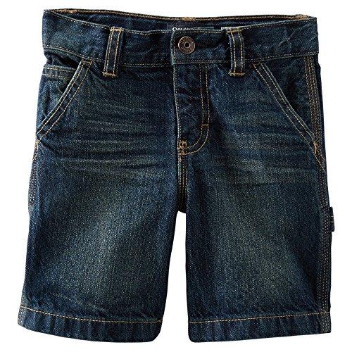 OshKosh B'gosh Big Boys' Denim Carpenter Shorts, Faded Medium, 10 - Boys Shorts Carpenter