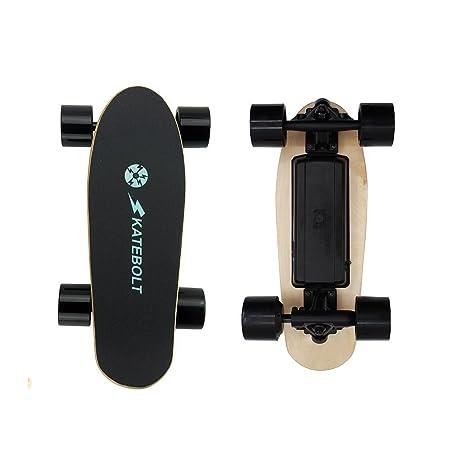 Review SKATEBOLT Electric Skateboard Mini Fashion Gift S5 Motorized Skateboard Remote Control, 70mm Dual Hub Motor Powered, NW3.6kg, 25.2V Lithium Battery,250W HUB Motor