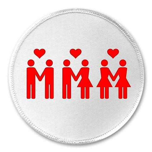 Amazon Lgbt Lesbian Gay Love Heart Symbols 3 Sew On Patch Love