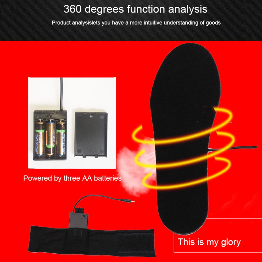 Heated Insoles,Sundlight Multiple Sizes Battery Power Heated Shoes Unisex Cut-to-Fit 40-44 Insole Boot Warmer for Hunting Fishing Hiking Camping