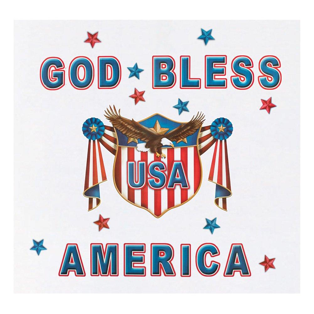 Collections Etc God Bless America Garage Door Magnets