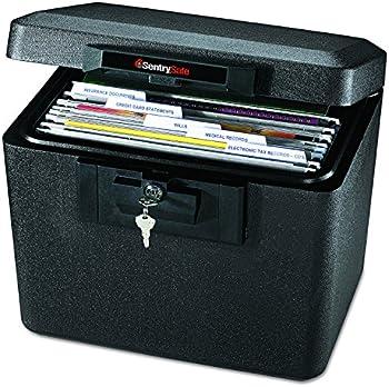 SentrySafe 1170BLK 1/2 Hour Fireproof 0.61 Cubic Feet Security File Safe